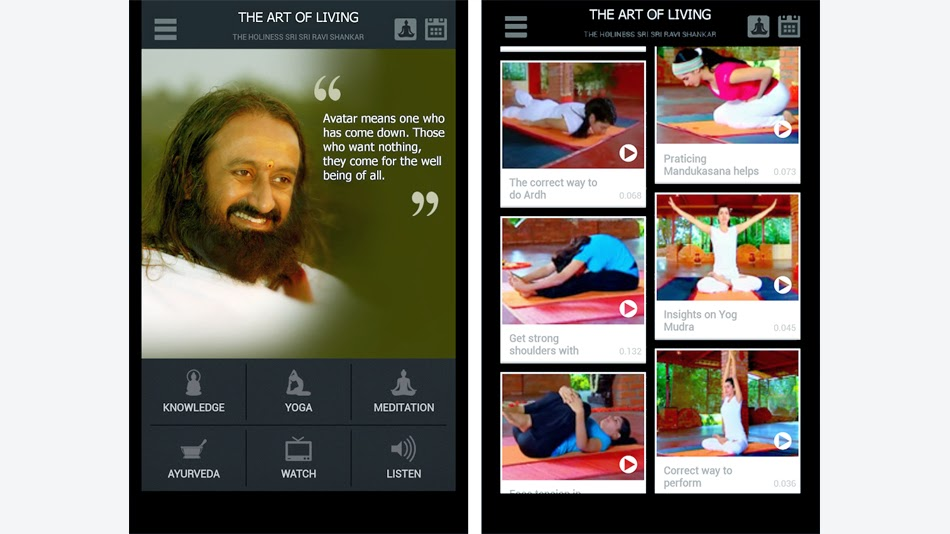 5 free best and must to have spiritual android apps for 2015 - Free Art of Living android app - Turn Spiritual, Turnspiritual.in