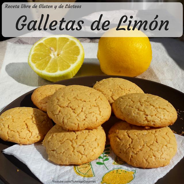 Receta de galletas de lima o limón libre de gluten y libre de lactosa