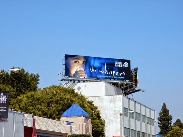 The Whispers series launch billboard