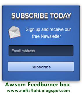 awesome Feedburner widget