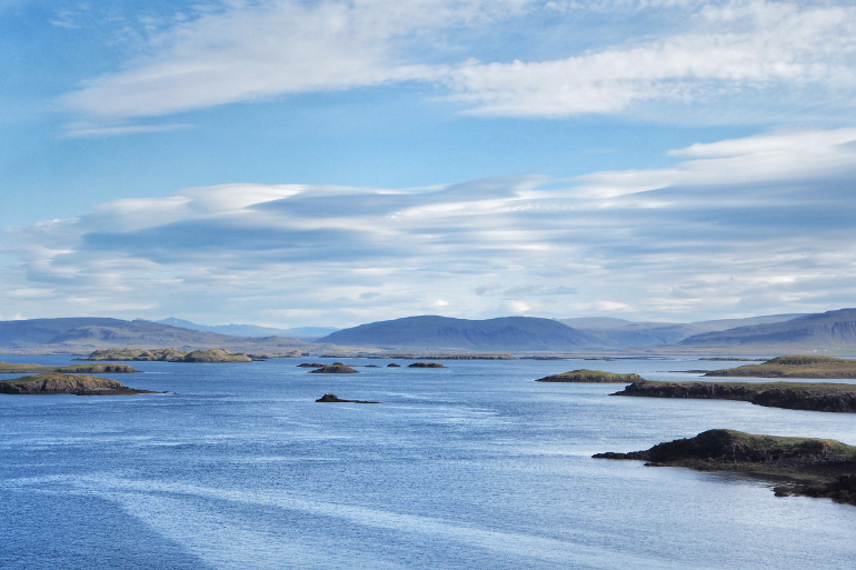 Vue depuis la péninsule de Snæfellsnes