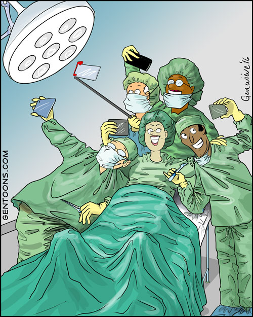 everyone takes a selfie!