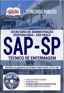 concurso-apostila-sap-sp-2018-cargo-tecnico-de-enfermagem