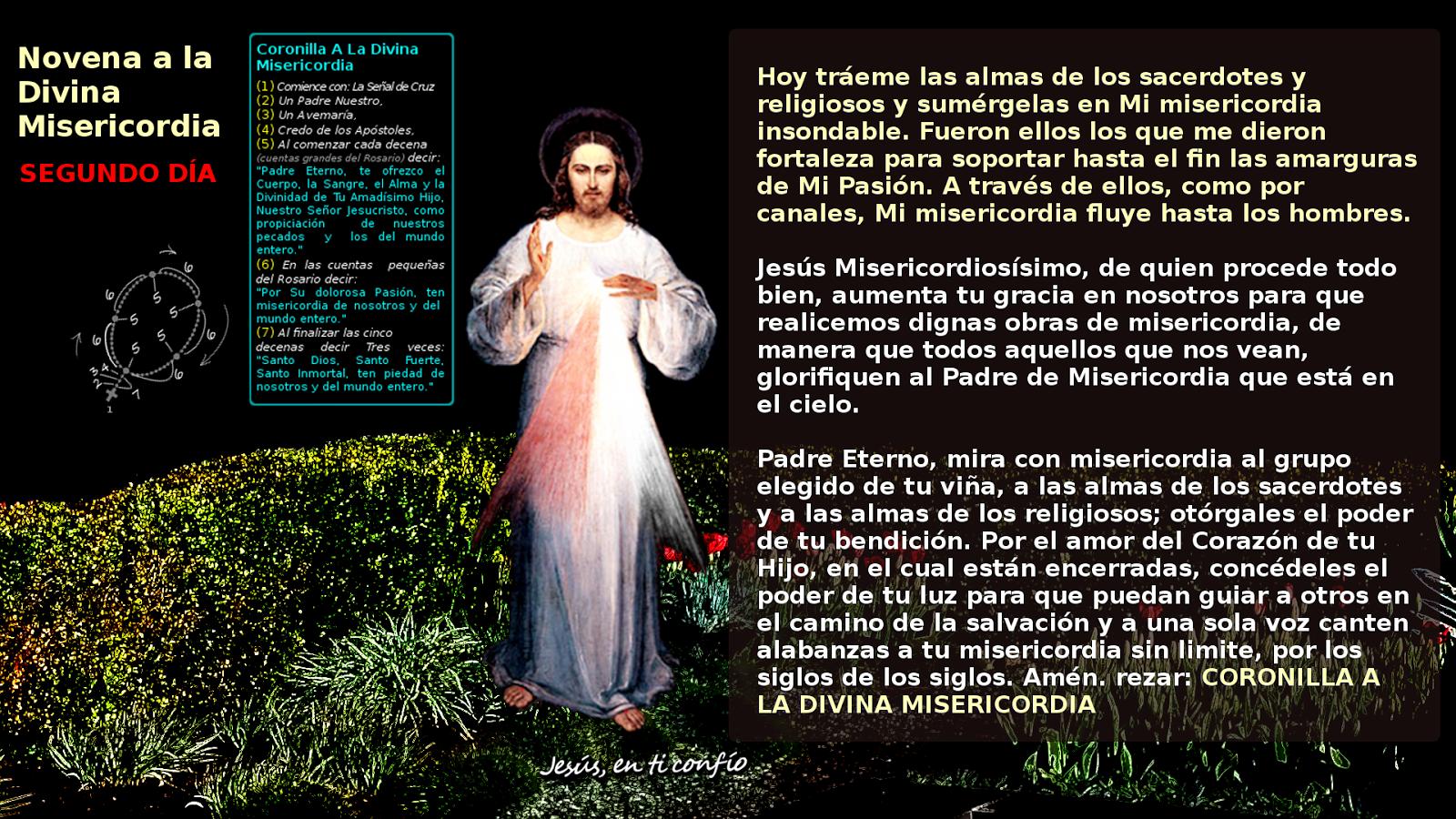 segundo dia de la novena divina misericordia