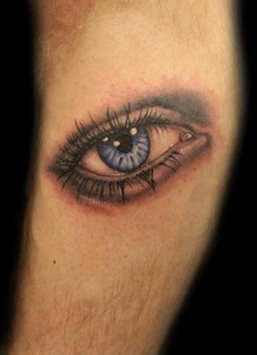 Este belo olho azul