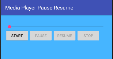 android media player pause resume example