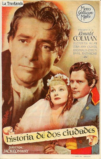 Historia de Dos Ciudades - Programa de Cine - Ronald Colman - Elizabeth Allan - Basil Rathbone