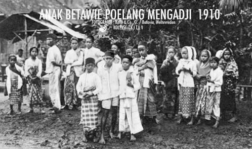 Masyarakat Betawi Tempo Dulu Dari Sononya Bhineka ...