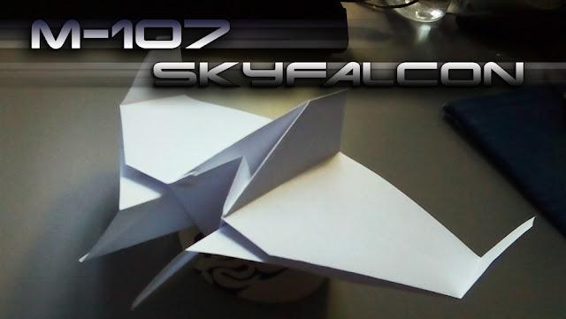 Avión de papel M-107 SkyFalcon