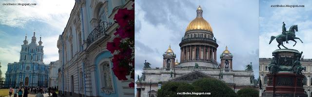 Viaje a Rusia: San Petersburgo, convento del alquitrán, Catedral de san Isaac y estatua de Nicolás I