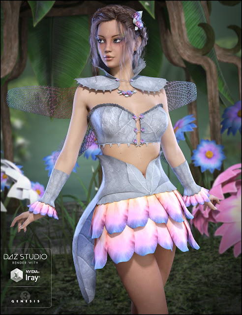 Gossamer Outfit for Genesis 3 Female