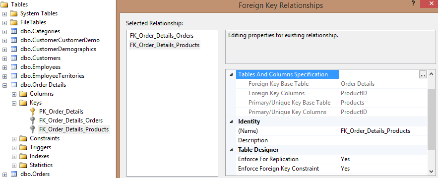 Foreign Key Relationships