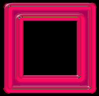 Moldura quadrada rosa - criação Blog PNG-Free