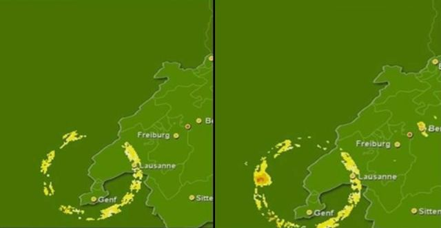 Mysterious Weather Radar Anomalies Over Switzerland