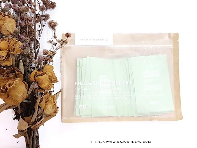 [Review] Mustus Chlo Gauze Peeling Pad