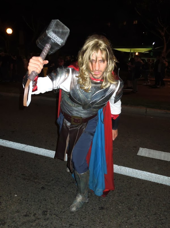 Thor costume West Hollywood Halloween Carnaval
