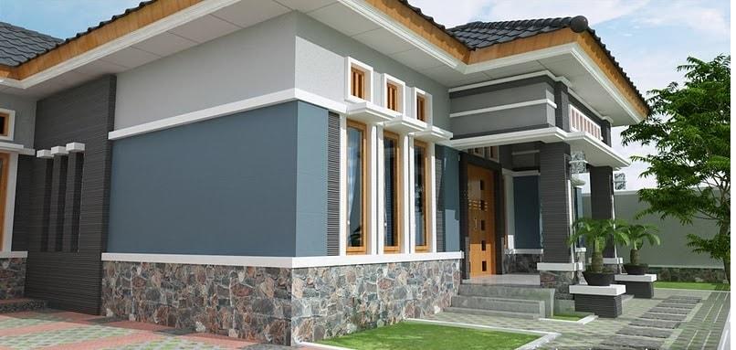 98+ Gambar Rumah Pakai Batu Alam Tampak Depan Gratis