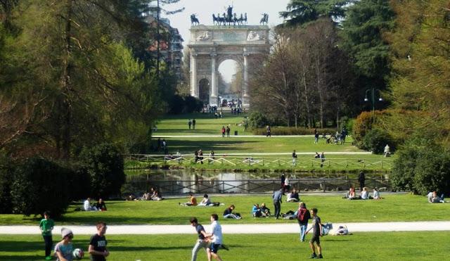 Parque Sempione Park em Milão