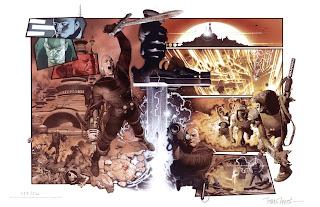 """Travis Charest est un dessinateur, encreur et coloriste franco-canadien né à Leduc en 1969 dans la province de l'Alberta. Il est notamment l'auteur de WildC.A.T.s, et des couvertures de X-Men, The Outsiders, Batman, etc. Après avoir travaillé aux côtés de Jim Lee en Californie, il prend la """"succession"""" de WildC.A.T.s (à partir du numéro 15) et commence à développer un style inspiré de Moebius et Frank Frazetta.  En 2000, Travis Charest arrive à Paris pour commencer la création d'une suite de Métabarons, Dreamshifters. Il est renvoyé du projet au bout de 7 ans, Jodorowsky l'estimant trop lent (seulement 30 planches en 7 ans).  Allez preparez-vous pour """"The Art of Travis Charest!!!!!!!!!!!!!!"""