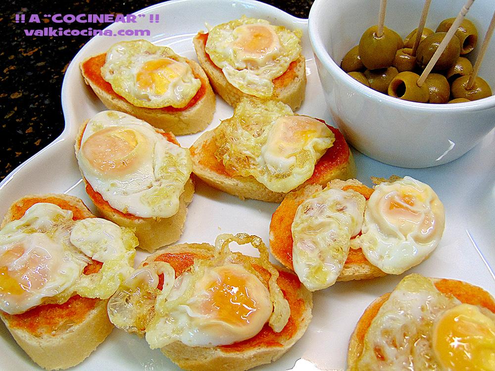Montadito De Huevo De Codorniz Con Tomate A Cocinear