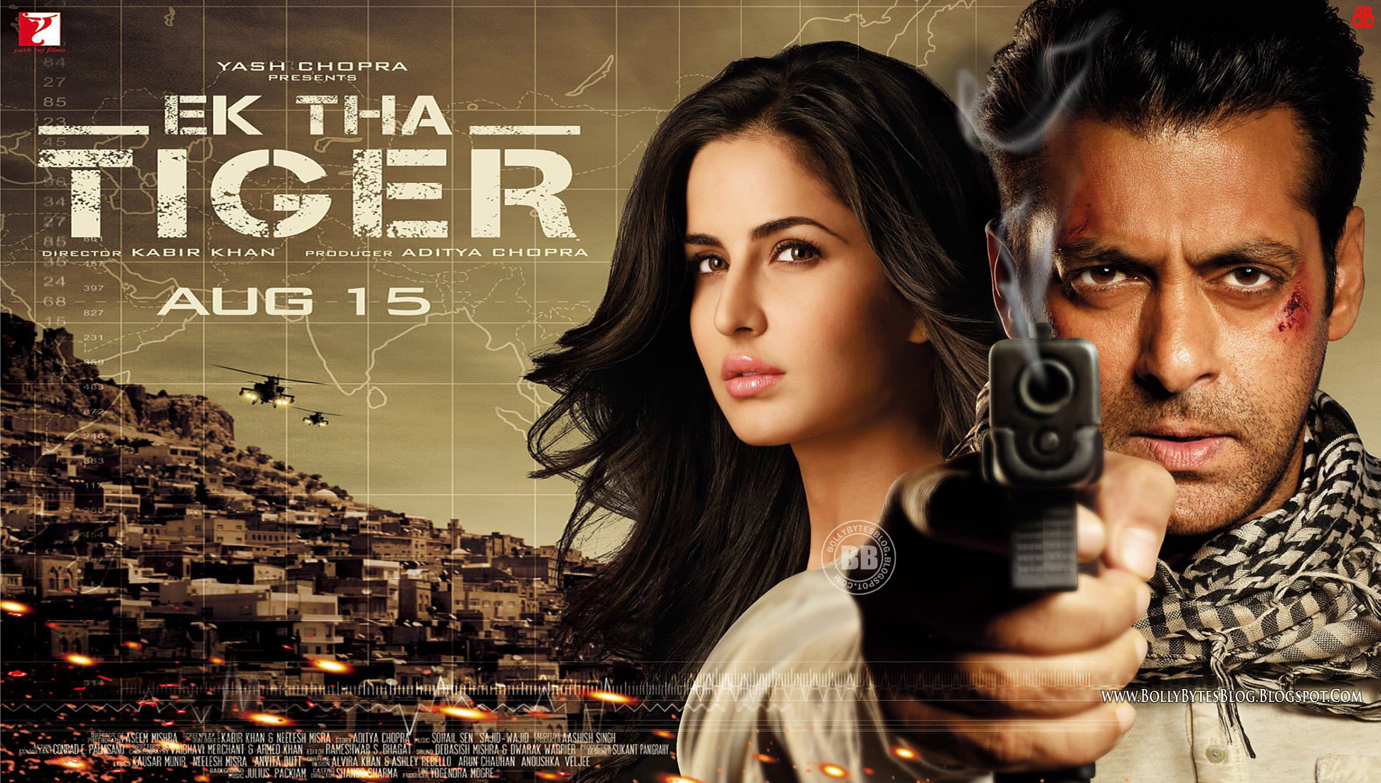 Salman Khan And Katrina Kaif In Ek Tha Tiger: Ek Tha Tiger HD Wallpapers Exclusive!!