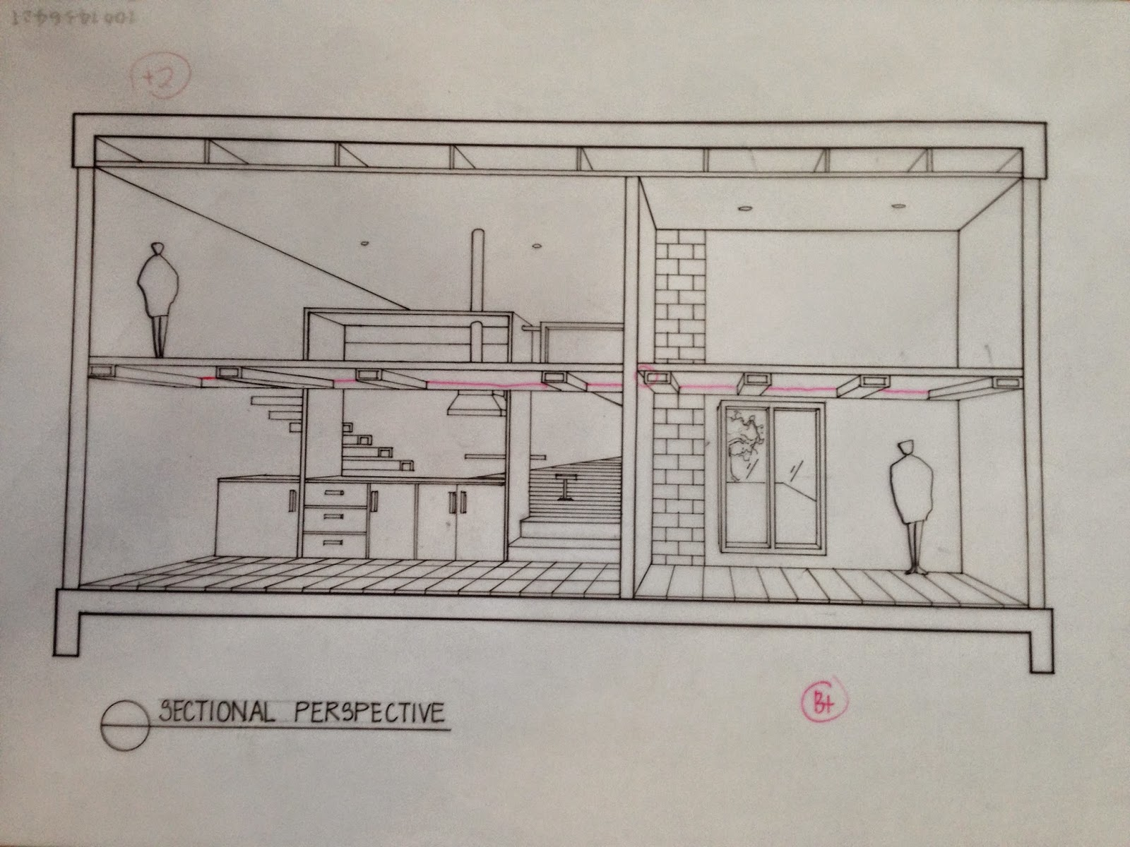 Sectional Perspective Drawing & With An Equally plex Set