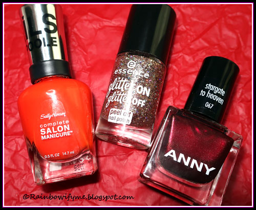Sally Hansen: Say It Lycra Mean it, Essence: Razzle Dazzle, Anny: Stargate to Heaven