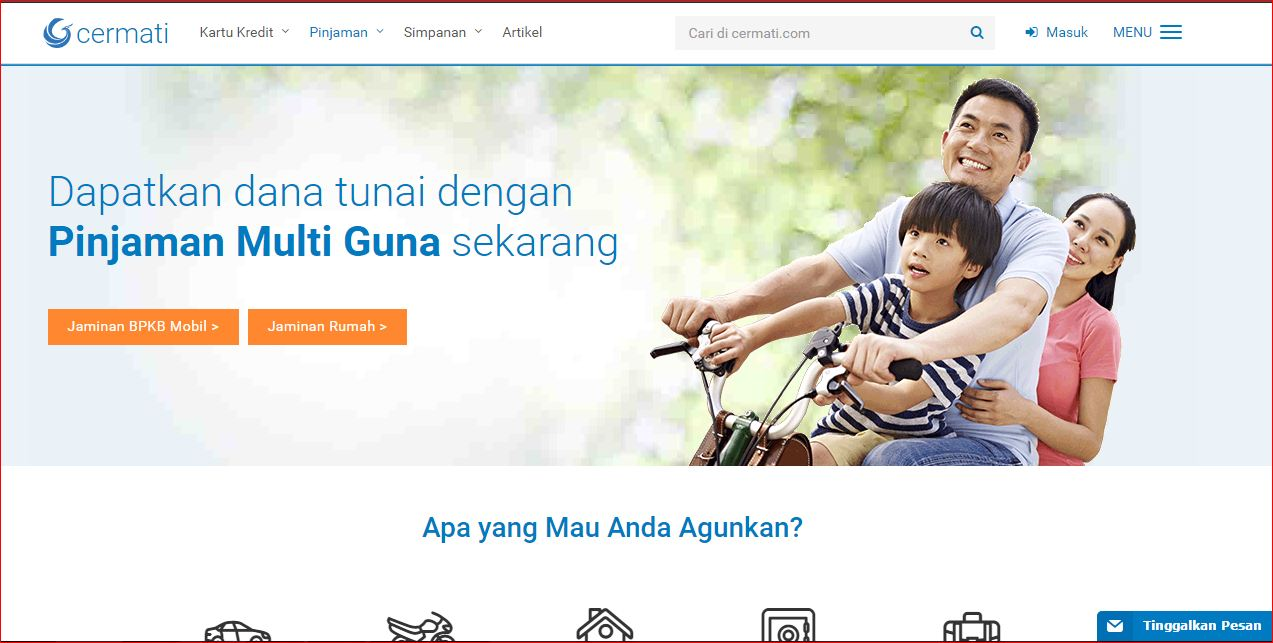 Tempat pinjam uang jaminan sertifikat rumah