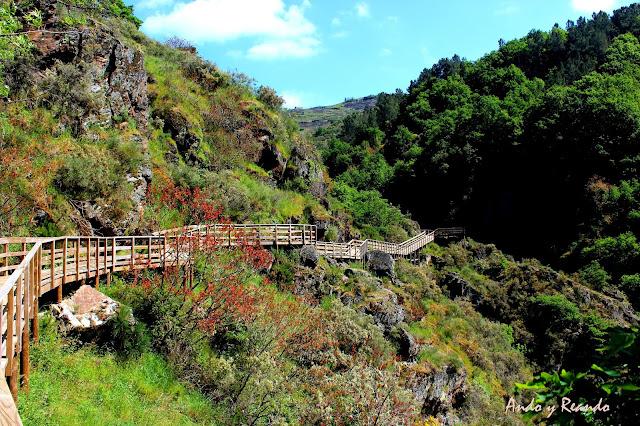 Ruta del río Mao, un  recorrido por las pasarelas colgantes del río Mao. Ribera Sacra, Orense