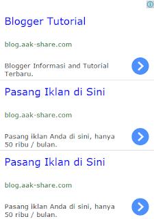 Membuat Iklan Seperti Google Adsense