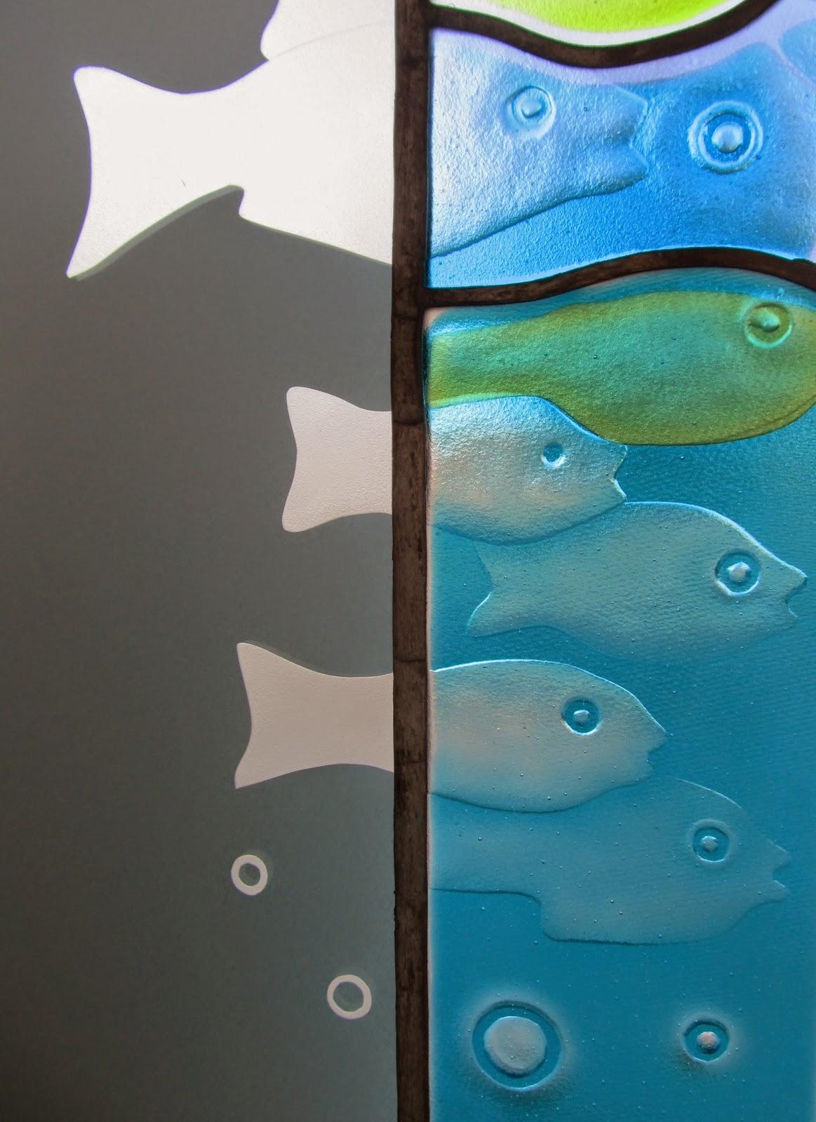 vitrážové  zrcadlo do koupelny
