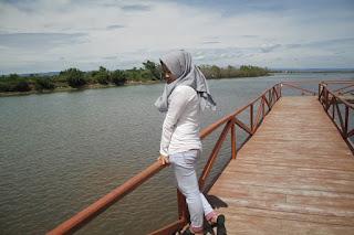 menikmati keidahan hutan mangrove