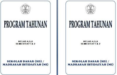 Program Tahunan (Prota) SD Kelas 4,5,6 Semester 1 dan 2 KTSP Semua Mapel