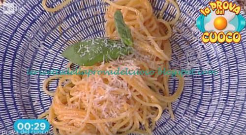 Prova del cuoco - Ingredienti e procedimento della ricetta Spaghetti aglio olio e peperoncino con pomodorini e pecorino di Ivano Ricchebono