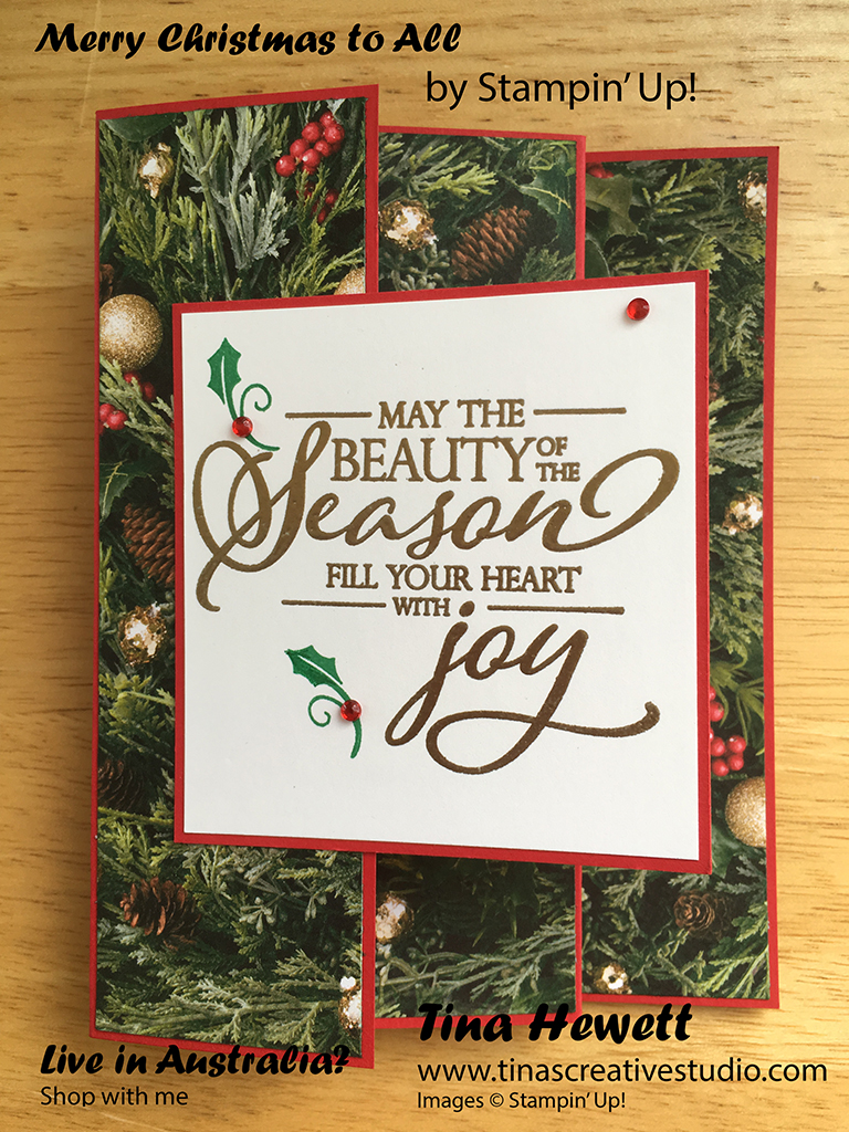 Tinas Creative Studio All Is Bright Christmas Card For Kylies