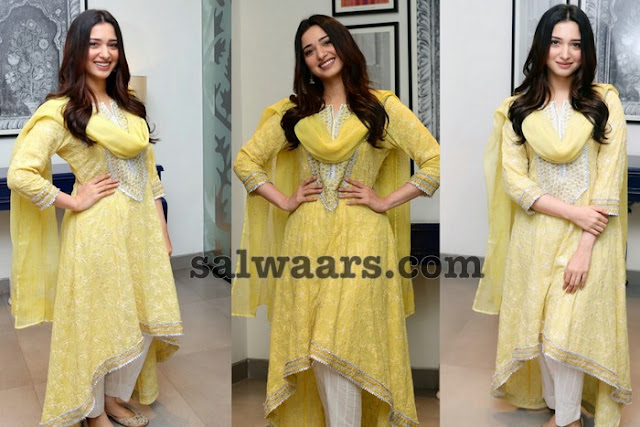 Tamanna Lemon Yellow Printed Salwar