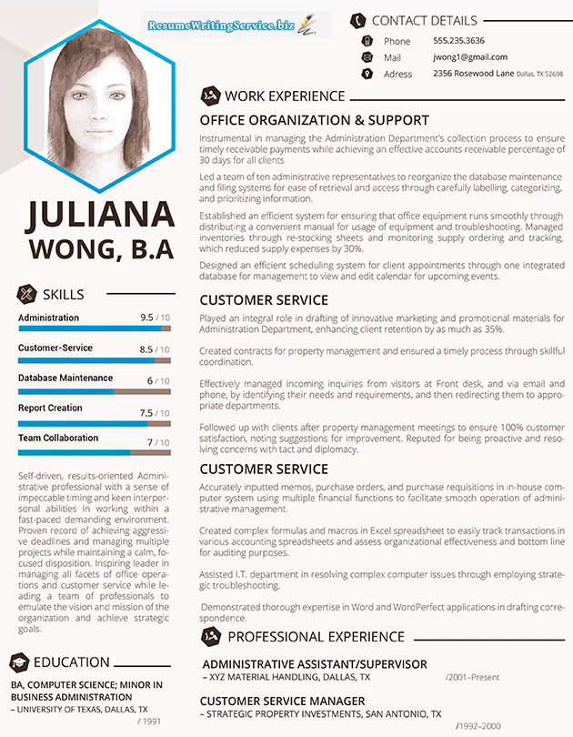 excellent resume layout