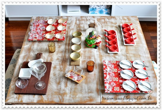 mesa decorada natal