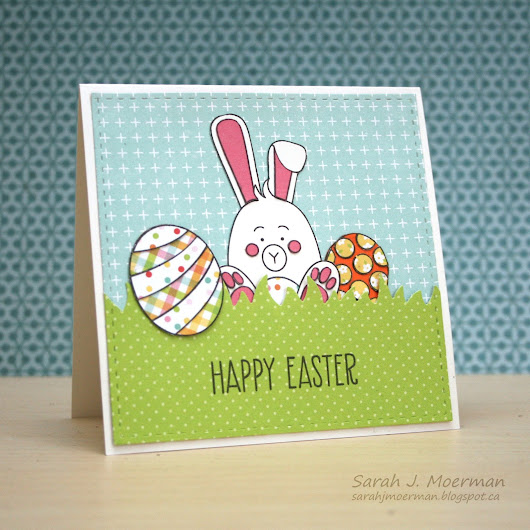 Simon Says Stamp Easter Bunny Card featuring the March Card Kit (& GIVEAWAY)