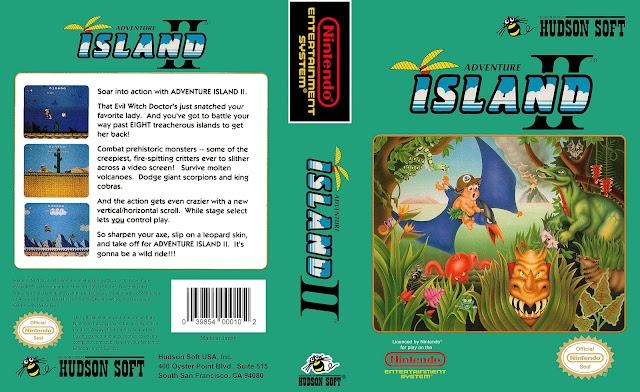 Capa Adventure Island 2 NES