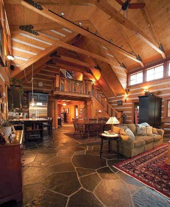 19 Log Cabin Home Décor Ideas: HOME & GARDEN: Les Fustes : Des Maisons En Rondins De Bois