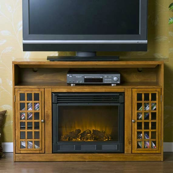 TV Stand with Fireplace photo