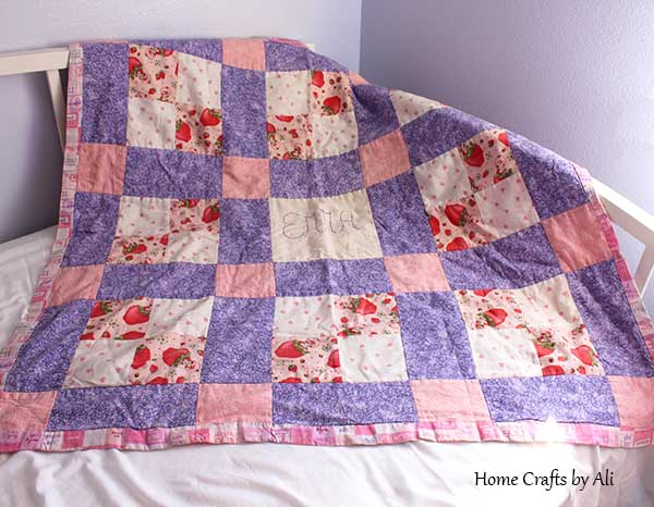 soft and cuddly strawberry shortcake quilt for toddler