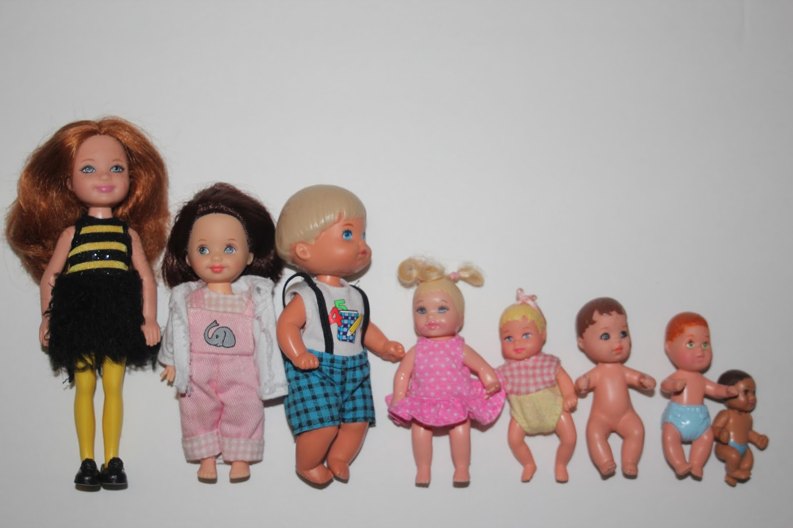 Puppen Sonstige Lower Price with Vintage Mattel Barbie Sunshine Family Aa Baby And Little Kiddles Doll 60s Puppe