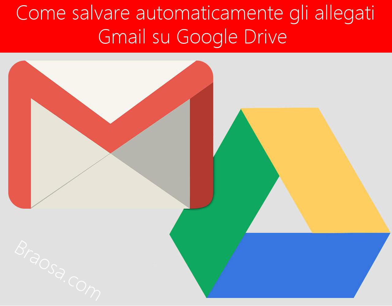 Come archiviare e salvare automaticamente gli allegati Gmail su Google Drive