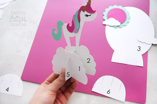 Paper Unicorn for Party