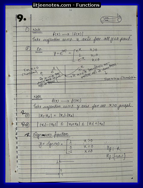 functions notes 9