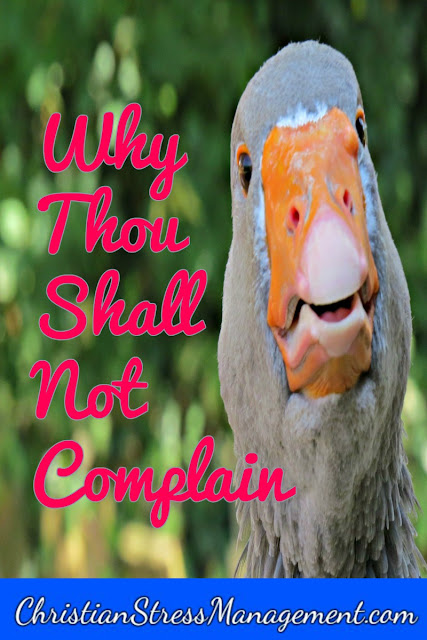 Why you should not complain