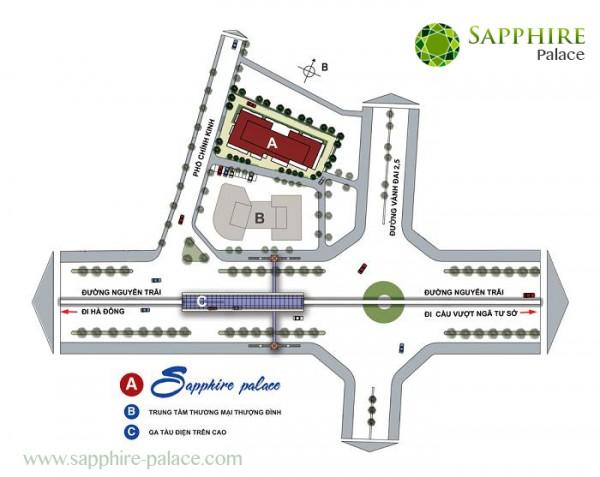 Vị trí chung cư Sapphire Palace