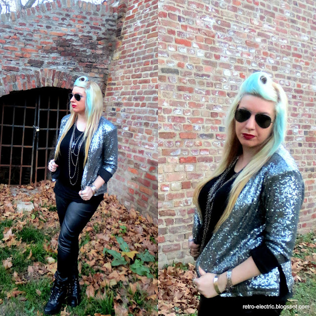 glitter sequin jacket, holidays, winter, new year, christmas outfit, inspiration, glam girl retro